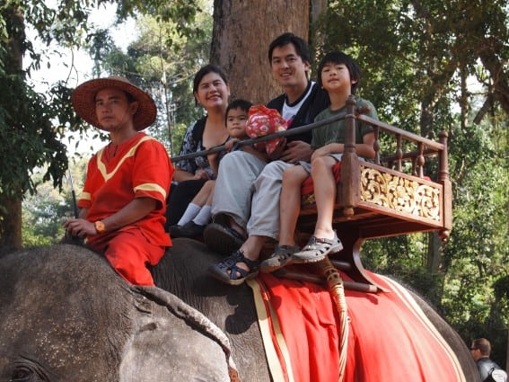 An elephant ride was the highlight for many on our Cambodia with kids vacation