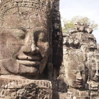 The many faces of Angkor Thom - Photo by our 8 year old