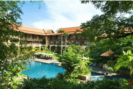 Georgeous pool at the Victorial Angkor Resort and Spa
