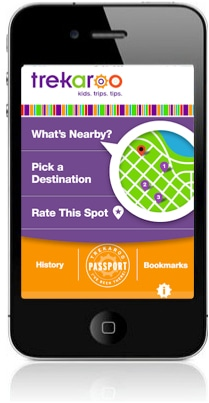 Trekaroo iPhone App - kid-friendly activiites, restaurants, hotels nearby
