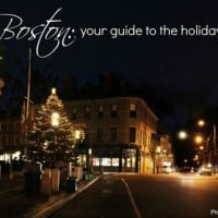 Explore Boston for Christmas and the Holidays