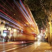 Cable Cars Christmas Lights San Francisco