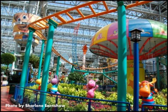 Nickelodeon Universe mall of america with kids