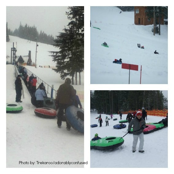 Snow Play with Kids: Tubing at Mt. Hood