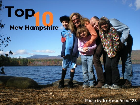 Top 10 Things for families in New Hampshire