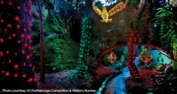 Rock City Chattanooga Lights Christmas Tennessee Kids