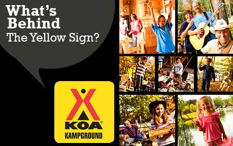 koa behind the sign giveaway behind the yellow sign of koa kgrounds ckoa in 9693