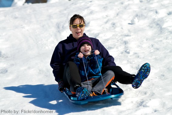 fun things to do in the snow: Sledding