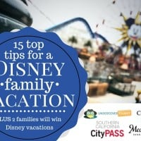 15 Top Tips for a Disney Family Vacation PLUS Enter to win a family vacation at Walt Disney World or Disneyland. Two families will win.
